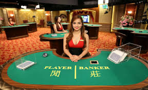 Play baccarat in a live dealer casino.