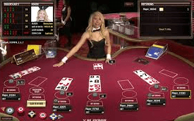 Play Blackjack in a live dealer online casino.