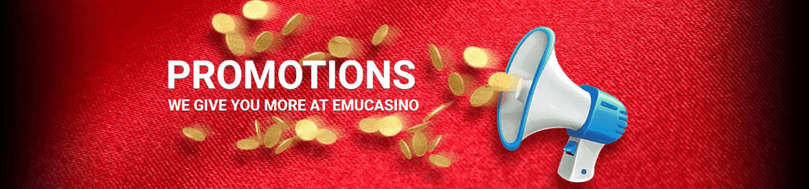 At EmuCasino they have a range of great offers for you to enjoy