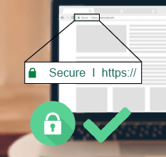 A secure online casino should have an address starting with 'https'